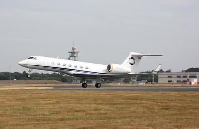 Gulfstream G550, M-USIC, taking off - 22/07/18