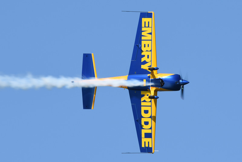 Matt Chapman flying the Embry-Riddle Aeronautical University Extra 330LX