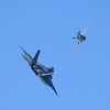 F-22A and P-51 - SF Fleet Week 2016