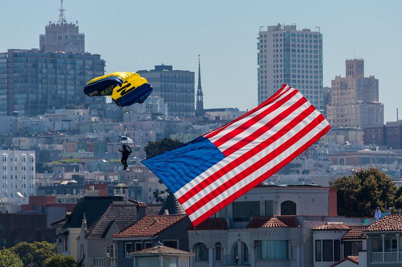 US Navy Leap Frogs - SF Fleet Week 2017