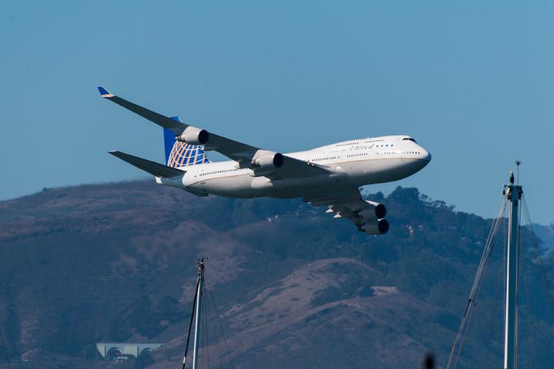 United Airlines Boeing 747 - SF Fleet Week 2017