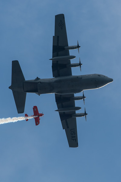 US ANG C-130H and Lucas Oil Pitts