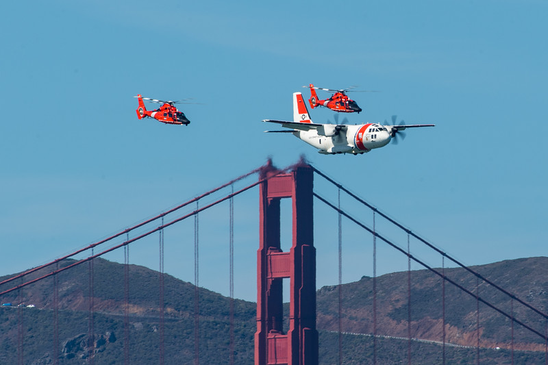 US Coast Guard HH-65Cs and HJ-27J