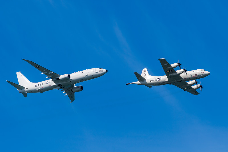 US Navy P-3C and P-8A