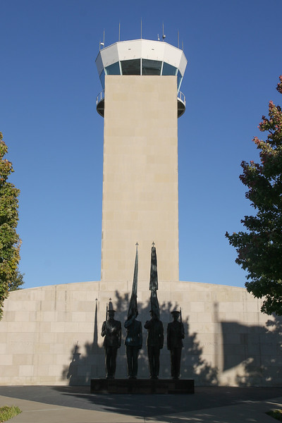 Honor guard memorial at Fort Worth Alliance Airport tower