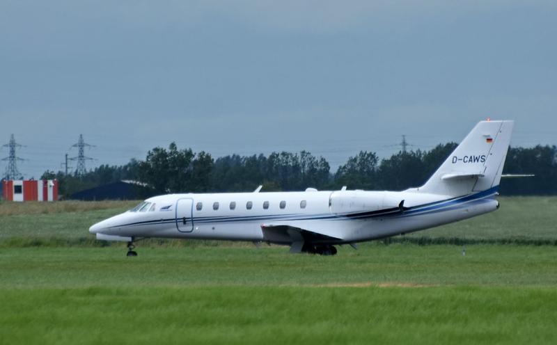 Cessna Citation Sovereign D-CAWS, Carpiquet airport, Caen, 7 June 2019.