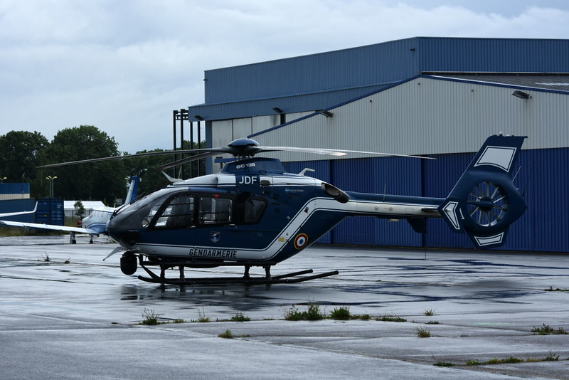 Gendarmerie Nationale Eurocopter EC135 F-MJDF, Carpiquet airport, Caen, 7 June 2019.