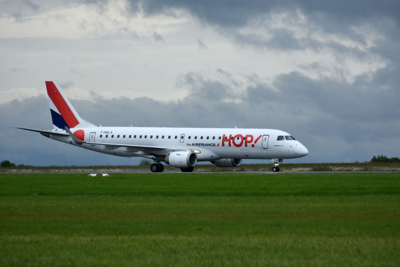 Hop! Embraer 190 F-HBLA, Carpiquet airport, Caen, 7 June 2019.
