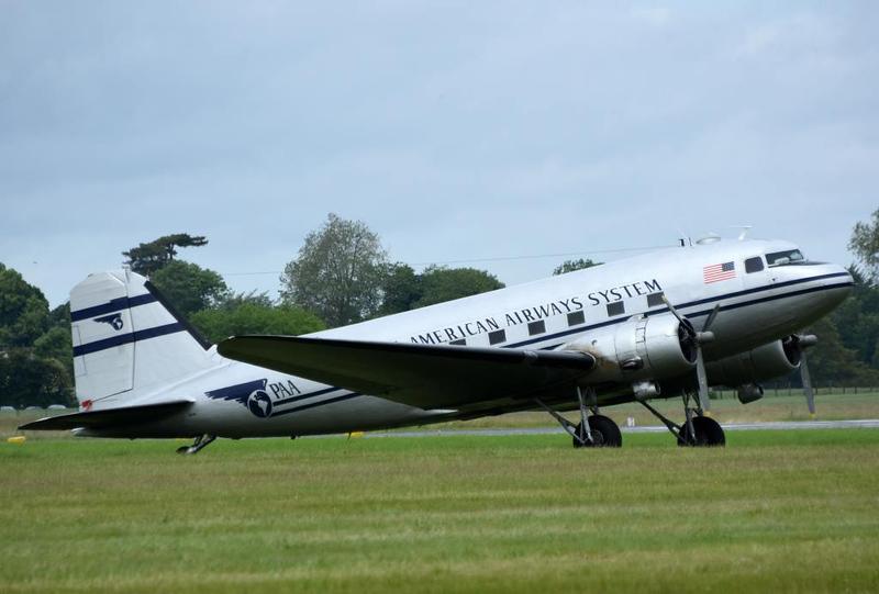 Douglas C-47B 43-16340 as Pan American Airways System N877MG, Carpiquet airport, Caen, 7 June 2019 2.