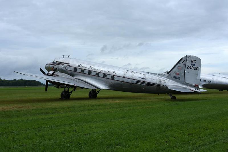 Douglas C-47A 43-15731 as Johnson Flying Services Inc NC24320 Miss Montana, Carpiquet airport, Caen 7 June 2019 1.
