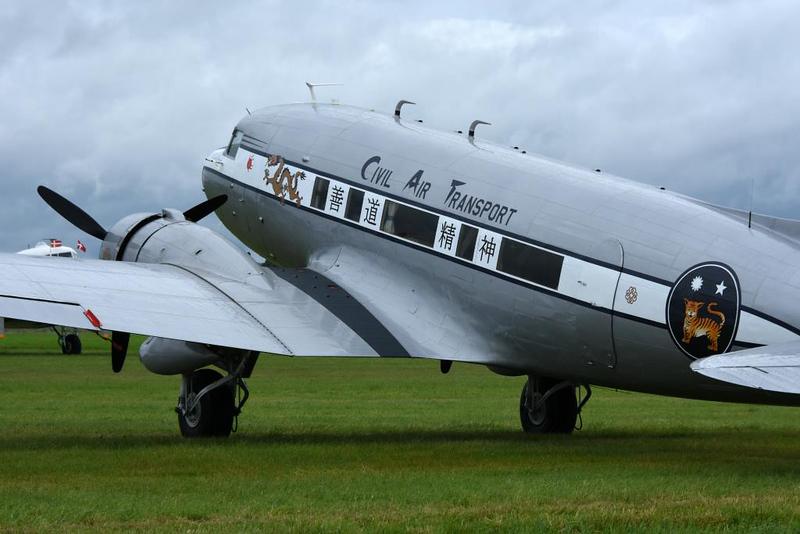 Douglas C-53D 42-47371 as [Chinese] Civil Air Transport  N8336C The Spirit of Benovia, Carpiquet aiport, Caen, 7 June 2019 3.