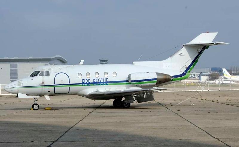 Hawker Siddeley HS-125, Le Bourget, Paris, 6 February 2015.  Previously TR-LFB (Gabon).