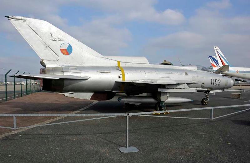Czech AF MiG-21 1103, Musee de l'Air et de l'Espace, Le Bourget, Paris, 6 February 2015.