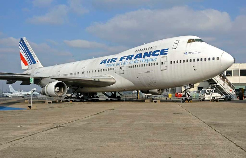 Air France Boeing 747-100 F-BPVJ, Musee de l'Air et de l'Espace, Le Bourget, Paris, 6 February 2015.