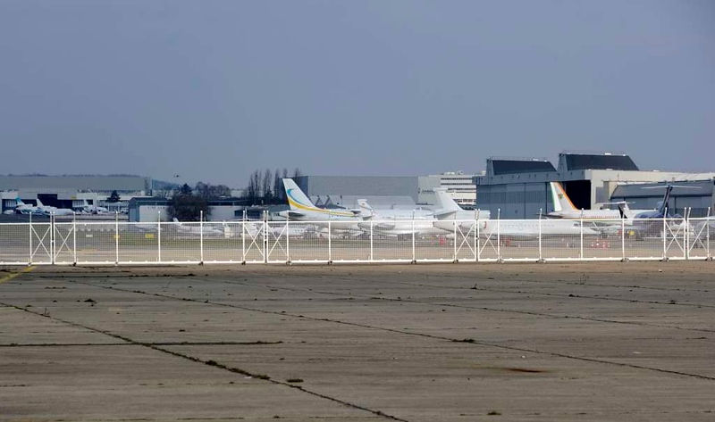 Business aircraft, Le Bourget airport, Paris, 6 February 2015.  Le Bourget no longer handles passenger flights, but still handles business flights.