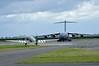 "USAF Dakota 3X-W / 292847 ""Thats all --- brother"" & USAF Boeing C-17A Globemaster III 77178, Carpiquet airport, Caen, 7 June 2019,"