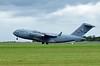 USAF Boeing C-17A Globemaster III 77178, Carpiquet airport, Caen, 7 June 2019 2 - 1526. The second C-17 departs...