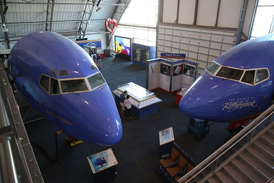Nose section of ex-Southwest Airlines Boeing 737-2H4, N102SW & Boeing 737-3H4, N300SW - 09/03/19