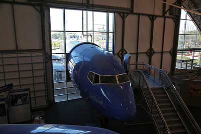 ex-Southwest Airlines Boeing 737-3H4, N300SW, rather bizarrely is displayed both inside and outside the museum ! - 09/03/19