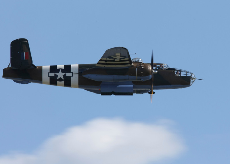 The North American B-25 Mitchell (NA-62) was an American twin-engined medium bomber manufactured by North American Aviation. Axis Nightmare