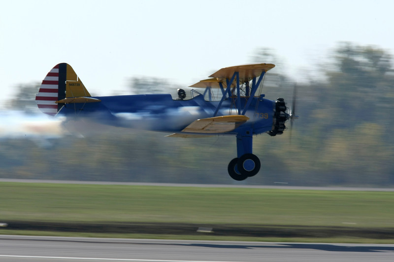The Stearman model 75, widely known as the Stearman, Boeing Stearman (Stearman became a subsidiary of Boeing in 1934) or Kaydet is a biplane, of which 8584 were built in the United States during the 1930's and 40's as a military trainer aircraft.