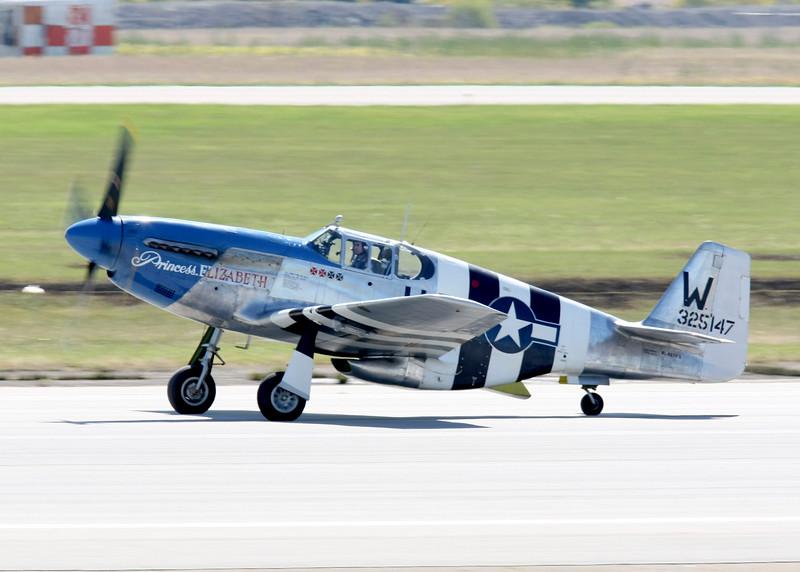 """"""" Princess Elizabeth """"    <br /> P-51 Mustang 43-25147 Type: P-51C-10NT<br /> Serial #: 43-25147<br /> Registry: N487FS<br /> Owner: Jim Beasley Jr.<br /> Base: Philadelphia PA<br /> Status: Flying"""