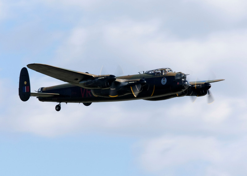 The Avro Lancaster was a British four-engine Second World War bomber aircraft made initially by Avro for the British Royal Air Force