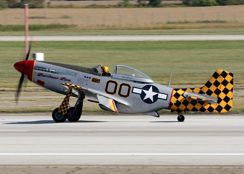 """ Luscious Lisa ""    <br /> P-51 Mustang 45-11391 Type: P-51D-30NT<br /> Serial #: 45-11391<br /> Registry: N51MV<br /> Owner: Todd Stuart<br /> Base: Key West FL<br /> Status: Flying"