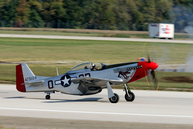 """ Red Dog XII ""    <br /> P-51 Mustang 44-72907 Type: P-51D-25NA<br /> Serial #: 44-72907<br /> Registry: N334FS<br /> Owner: Duane Doyle<br /> Base: Livermore, CA<br /> Status: Flying"