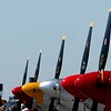 The Gathering of Mustangs & Legends<br /> <br /> • John Klatt (Air National Guard)<br /> • John Mohr<br /> • Red Barons<br /> • Ed Hamill (Air Force Reserve)<br /> • T6 Solo Demo<br /> • AeroShell Team<br /> • Patty Wagstaff<br /> • Lee Lauderback (P-51 Solo)<br /> • Horsemen Routine<br /> • Michael Goulian<br /> • USAF Heritage Flight(s)<br /> • F-16 Viper Demo<br /> • F-15 Eagle Demo<br /> • F-22 Raptor Demo<br /> • USAF Thunderbirds<br /> • Pyro Technical Display<br /> • Flight of 51 P-51s Formation<br /> • Various other Formations / Performances