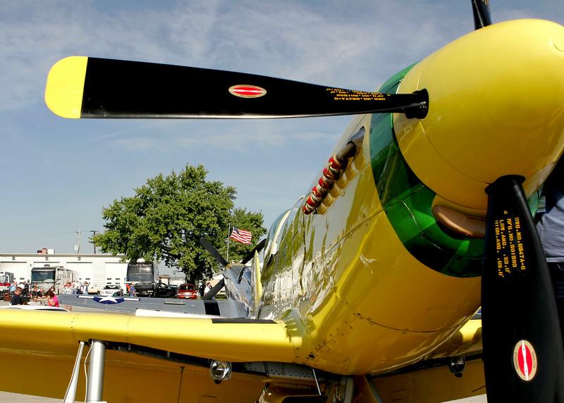 """"""" Ole' Yeller """"    <br /> P-51 Mustang 44-74739 Type: P-51D-30NA<br /> Serial #: 44-74739<br /> Registry: N51RH<br /> Owner: John Bagley<br /> Base: Rexburg ID<br /> Status: Flying"""