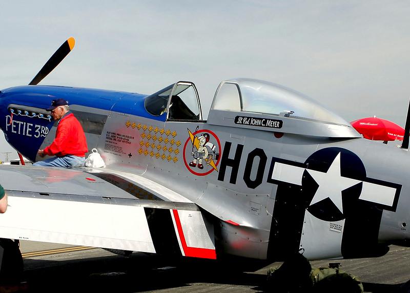 """"""" Petie 3rd """"    <br /> P-51 Mustang 44-72145 Type: P-51D-20NA<br /> Serial #: 44-72145<br /> Registry: N51PT<br /> Owner: Jeff Pryor<br /> Base: Santa Barbara Ca<br /> Status: Flying"""