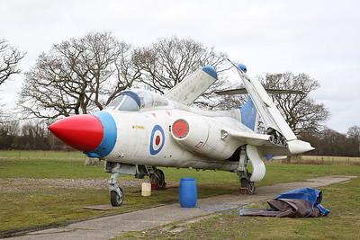 ex-RN & RAE Blackburn Buccaneer S.1, XN923, on display outside - 19/02/17.
