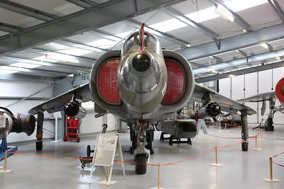 ex-RAF Hawker Siddeley Harrier GR.3, XV751, on display inside the new hangar - 19/02/17.