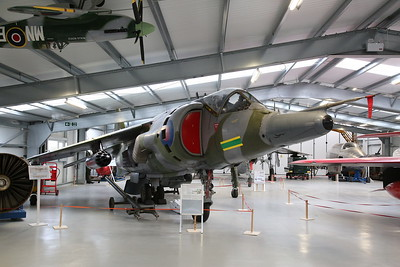ex-RAF Hawker Siddeley Harrier GR.3, XV751, on display inside the new hangar - 19/02/17.