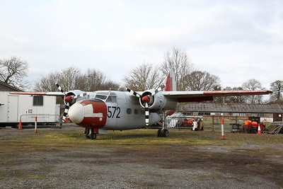 ex-RN Percival Sea Prince T.1 trainer, 572 / CU, on display outside - 19/02/17.