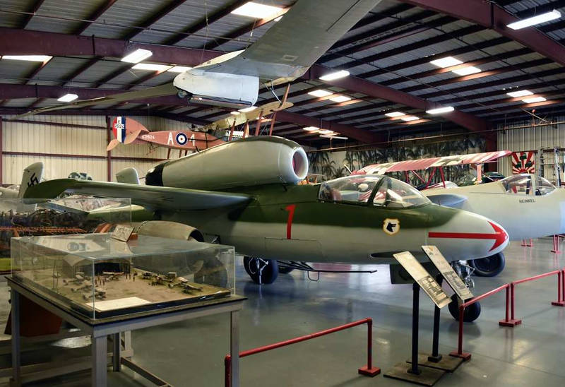 Heinkel He 162A 120077, Planes of Fame Museum, Chino, California, 3 May 2019 1.  One of about 50 He 162s captured by the British at Leck, in north west Germany, on 6 May 1945..