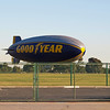 Goodyear Blimp N10A leveling off for landing - 12 Feb 2011