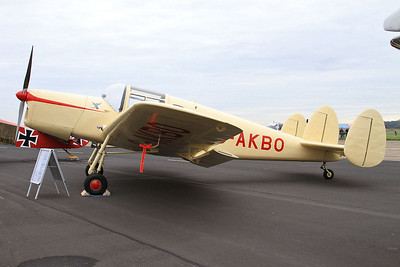 Miles M38 Messenger 2A, G-AKBO, on static display - 26/09/15.