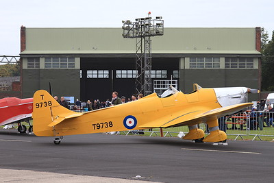 Miles M14a Hawk Trainer (Magister), T9738 (G-AKAT), on static display - 26/09/15.