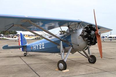 Morane Saulnier MS.317, 351 / HY-22 (G-MOSA), on static display - 26/09/15.