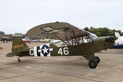 Piper J3C-65 Cub, 330244 / C-46 (G-CGIY), on static display - 26/09/15.