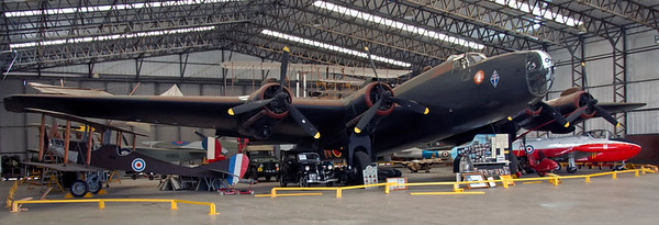 Handley Page Halifax II, Yorkshire Air Museum, Elvington, 28 September 2007 1.   Over 6000 Halifax heavy bombers were built.  None was preserved, and the aircraft seen here has been assembled using parts from a variety of sources.