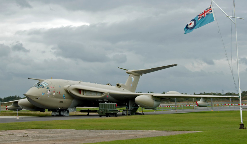Handley Page Victor K2 XL231 Lusty Lindy, Yorkshire Air Museum, Elvington, 28 September 2008 1.  The Victor was the Cold War successor to the Halifax.  The last K2 tankers were retired in 1993, and XL231 is one of four survivors.  Although not cleared for flight, it does perform fast taxi runs.