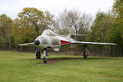 ex-RAF Hawker Hunter F.6A, XG225, RAF Museum, Cosford, Gate Guard - 19/04/17.