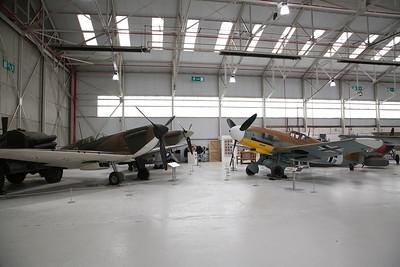 WW11 adversaries; Spitfire & Hurricane v Bf109, RAF Museum, Cosford - 19/04/17.