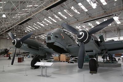 ex-Luftwaffe Messerschmitt Me410A-1/U2 Hornisse, 420430 / 3U+AK, on display, RAF Museum, Cosford - 19/04/17.