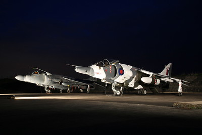 'Harriers & Jaguars at twilight' - Timeline photoshoot at RAF Cosford,  19th April 2017