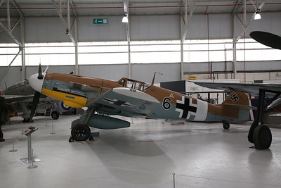 ex-Luftwaffe Messerschmitt Bf109G-2, PG+QJ / Black 6 ......was captured by the allies in 1942 and was taken on charge by RAF as RN228, later 8478M ..... restored to flight in 1991 as G-USTV, but crashed in 1997, restored to static exhibit in 2002 - 19/04/17.