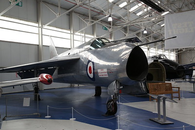English Electric P.1A (Lightning Prototype), WG760, on display, RAF Museum, Cosford - 19/04/17.
